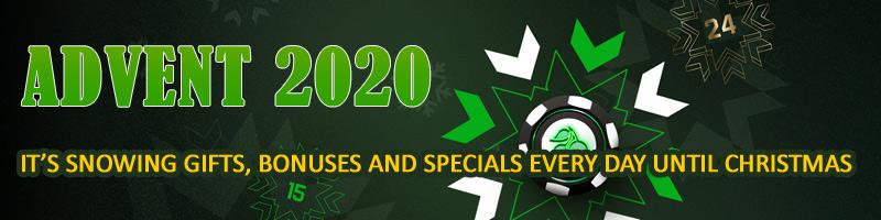 Loads of Advent Calendar Gifts & Festive Offers at Unibet Casino