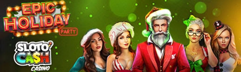 Join the Epic Holiday Party at Slotocash for Fantastic Real Cash Prizes